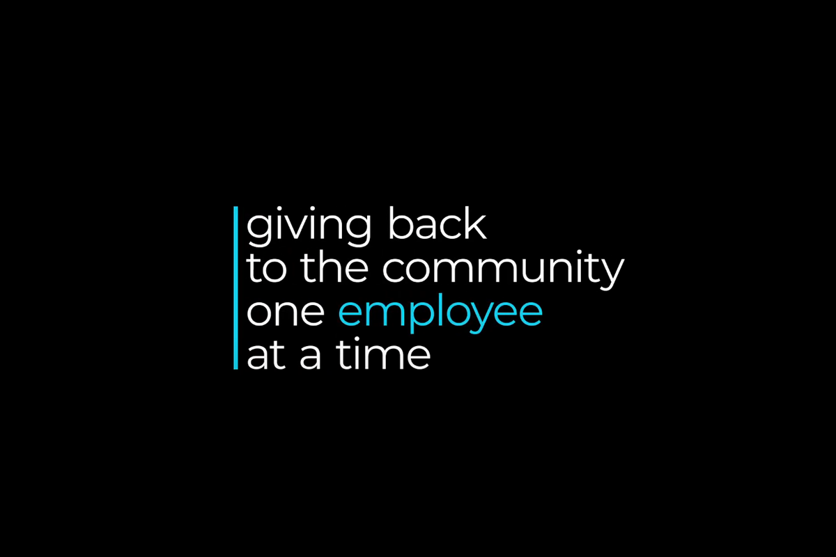 Giving back to the community, one employee at a time