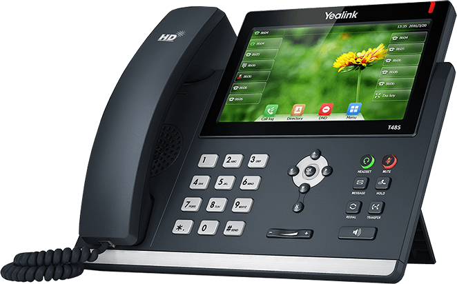 Yeahlink SIP-T48S desktop IP phone with Optima HD Voice technology and wideband codec of Opus for unparalleled audio clarity